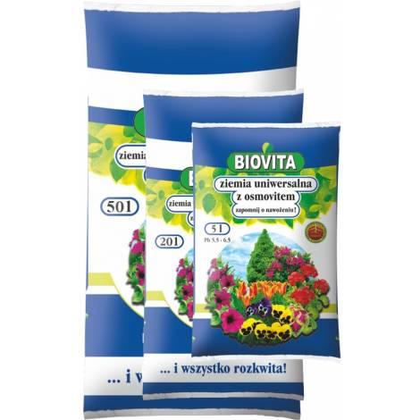 Ziemia uniwersalna do kwiatów z osmovitem 10 l Biovita