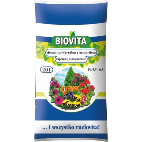 Ziemia uniwersalna do kwiatów z osmovitem 20 l Biovita