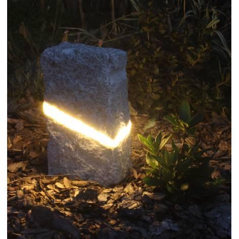 Lampa Ogrodowa Kamień Granit Spa4garden