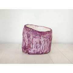 Ręcznie wykonana betonowa doniczka- fioletowa
