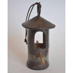 Ceramiczny karmnik z bambusem RAKU