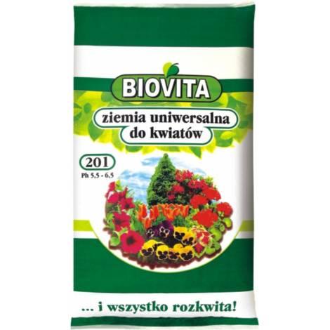 Ziemia uniwersalna do kwiatów 20 l Biovita