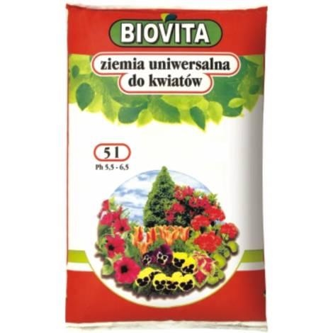 Ziemia uniwersalna do kwiatów 5 l Biovita