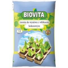 Ziemia do wysiewu nasion z włóknem kokosowym Biovita