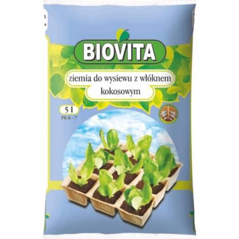 Ziemia do wysiewu nasion z włóknem kokosowym 5 l Biovita