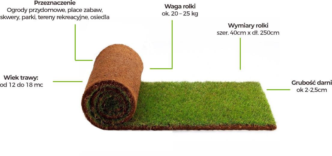 Zalety trawy z rolki